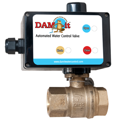Dam-it automated water control valve